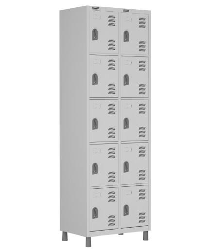 RSPL- 10 - Roupeiro de Aço 10 Vãos | Bitola 26 - com Pitão para Cadeado *Linha Superior W3