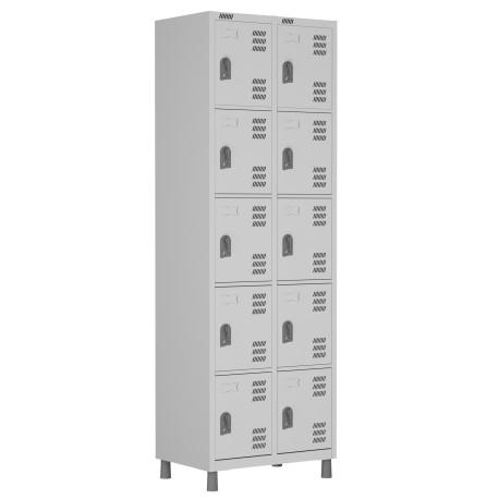 RSPL- 10 - Roupeiro de Aço 10 Portas | Bitola 26 - com Fechadura *Linha Superior W3