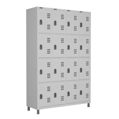 RSPL- 16 - Roupeiro de Aço 16 Portas | Bitola 26 - com Fechadura *Lin ha Superior W3