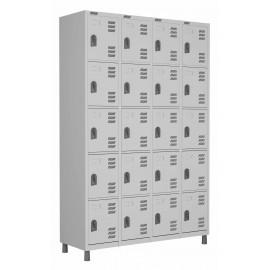 RSPL- 20 - Roupeiro de Aço 20 Portas | Bitola 26 - com Fechadura *Lin ha Superior W3