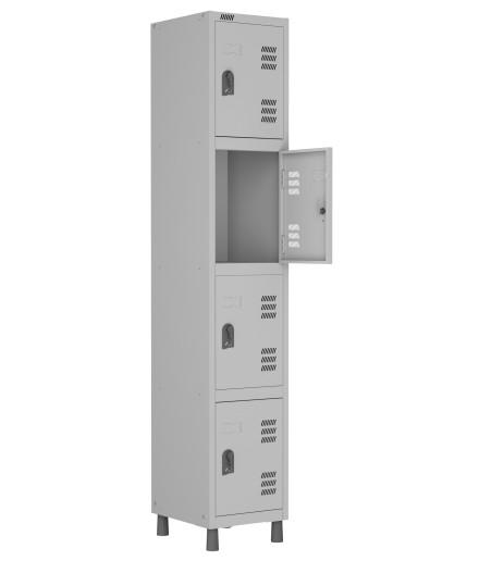 RMLI- 4/2 - Roupeiro de Aço Montável Inicial 4 Vãos | Bitola 26