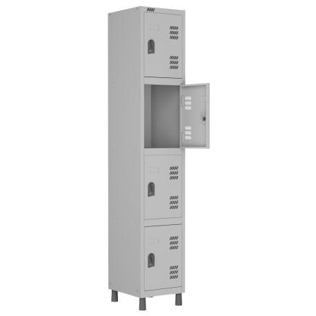 RMLI- 4/2 - Roupeiro de Aço Montável Continuação 4 Vãos | Bitola 26