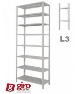 Estante de aço 8 Prateleiras EDR-008/580 | Chapa 22 - Alt. 3,00 x Larg. 0,92 x Prof. 0,58 - Linha Industrial L3