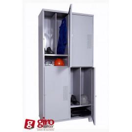 Roupeiro de Aço Insalubre 4 Vãos Aprovado pela Norma NR-24 | Chapa 24