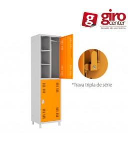 Roupeiro de Aço 4 Portas - 100% DE ACORDO COM A NR18 E NR24