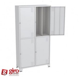 Roupeiro de Aço Insalubre c/ 1 Divisória Vertical | Chapa 24