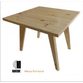 Mesa para Restaurante Natural Incolor 900 X 900mm