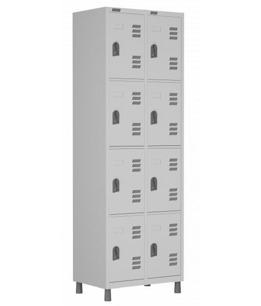 RSPL- 8/4 - Roupeiro de Aço 8 Portas | Bitola 26 - com Fechadura *Linha Superior W3