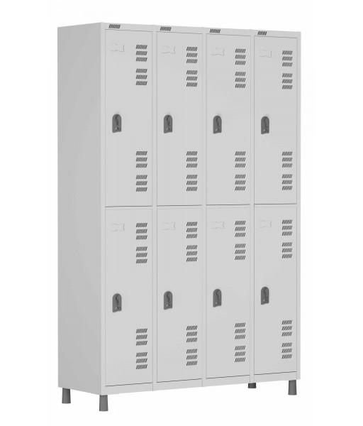 RSFL- 8 - Roupeiro de Aço 8 Portas | Bitola 26 - com Fechadura *Lin ha Superior W3