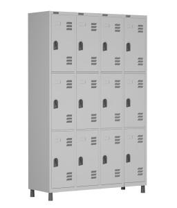 RSPL- 12/8 - Roupeiro de Aço 12 Portas | Bitola 26 - com Fechadura *Linha Superior W3