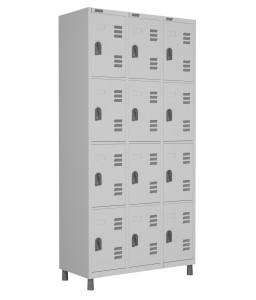 RSFL- 12 - Roupeiro de Aço 12 Portas | Bitola 26 - com Fechadura *Linha Superior W3