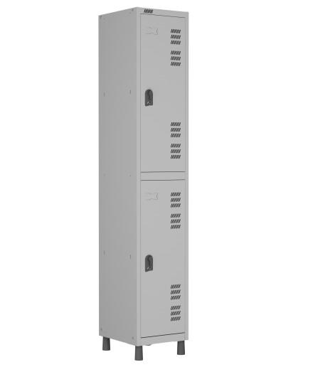RMLI- 2 - Roupeiro de Aço Montável Inicial 2 Vãos | Bitola 26