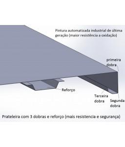 Estante de aço 6 Prateleiras - EDR-300/24   Com Reforço Chapa 24 – 100 Kg/prat.