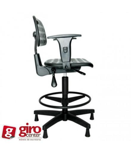 Cadeira Secretária Caixa Industrial Ergonômica P.U com Braço