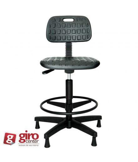 Cadeira Caixa Industrial P.U Sem Braço Secretaria Simples