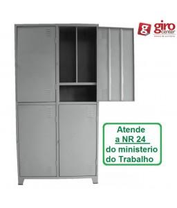 ROUPEIRO DE AÇO INSALUBRE 4 PORTAS NR-24 1400