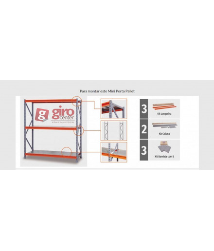 KIT ESTANTE MINI PORTA PALLET | 1800x800x2000