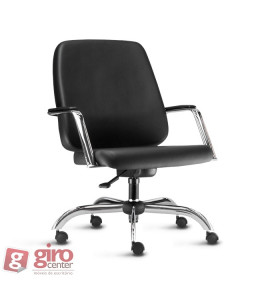 Cadeira para Obeso Giratória Cromada Maxxer 150Kg Frisokar