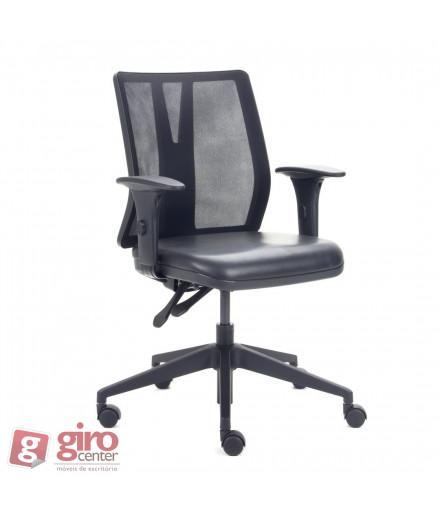 Cadeira para Escritório Addit com Tela - Base Piramidal Preta