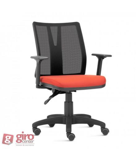 Cadeira para Escritório Addit com Tela - Base Arcada Nylon Preta