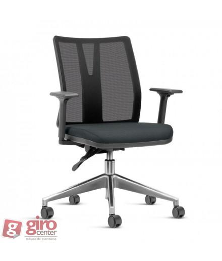 Cadeira de Escritório Linha Addit - Base Piramidal Alumínio