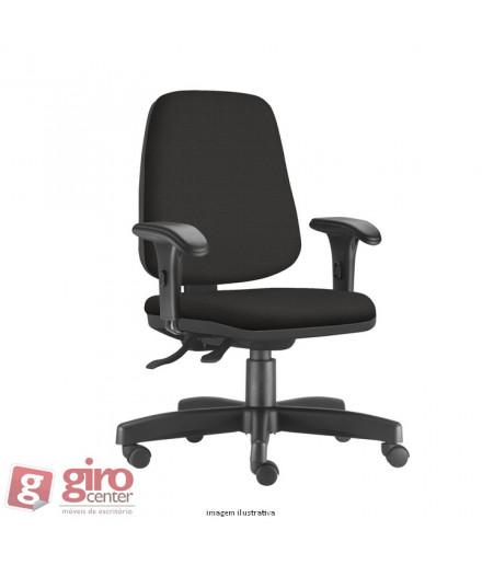 Cadeira Job Diretor - Base Reta Nylon - Rodízios e Braços PP
