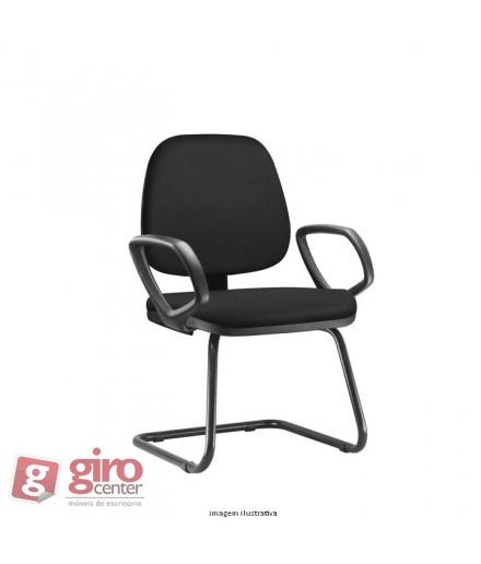 Cadeira Job Fixa com Pés SKY e Braços Fechado