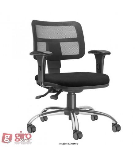 Cadeira Zip Ergonômica Back System II - Base Cromada