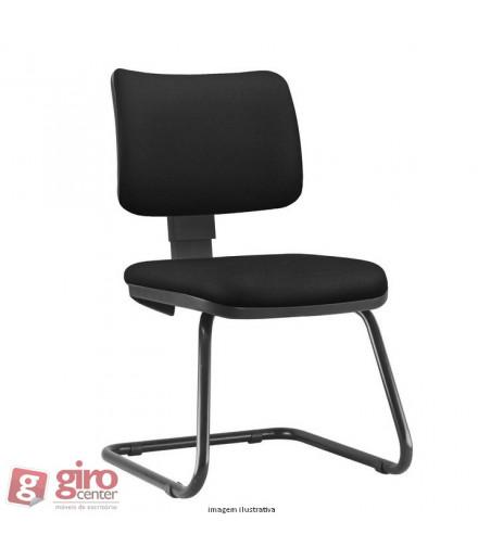 Cadeira Zip Fixa Pés Sky sem Braços - Estofada