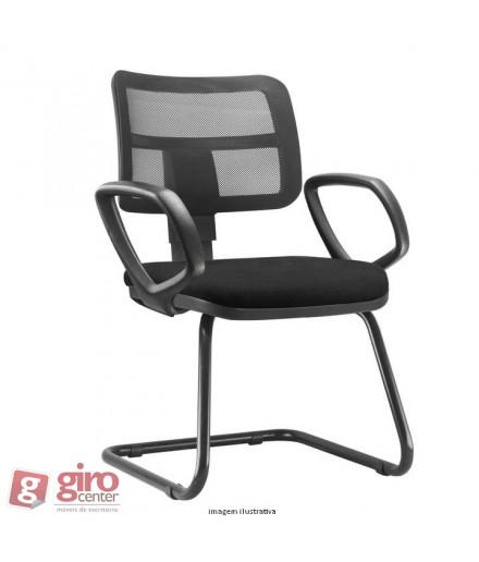 Cadeira Zip Fixa Pés Sky com Braços - Tela