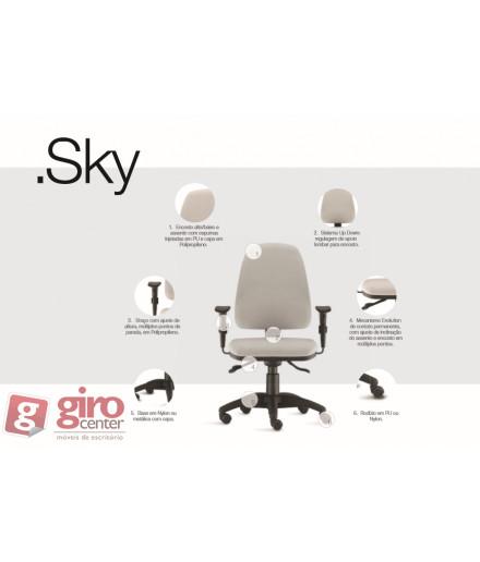 Cadeira SKY Ergonomica - Especificação Técnica - NR-17 - Estofada