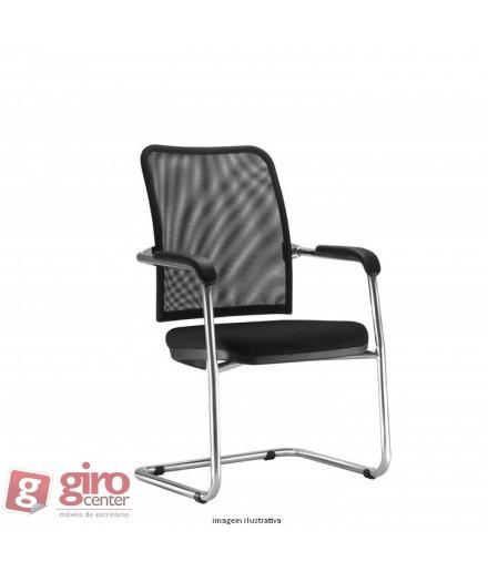 Cadeira Soul Tela - Estrutura Fixa - Cromada