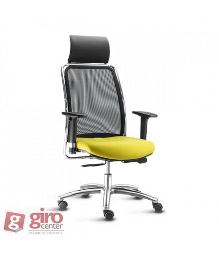 Cadeira Soul Presidente Encosto Tela - Base Alumínio