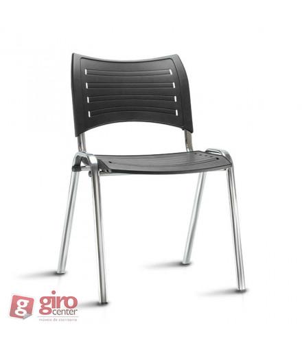 Cadeira Iso Empilhável Cromada