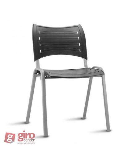Cadeira Iso Empilhável Cinza