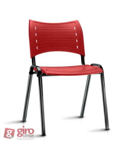 Cadeira Iso Empilhável Vermelha