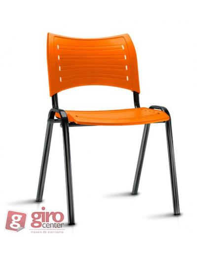 Cadeira Iso Empilhável Laranja