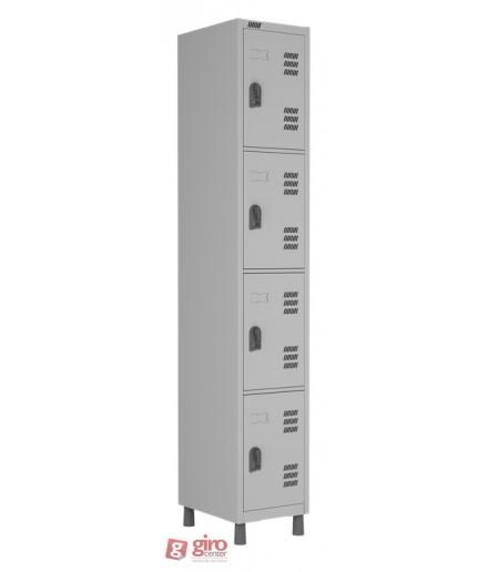 Roupeiro de Aço 4 Portas Pequenas Sobrepostas Linha Superior W3