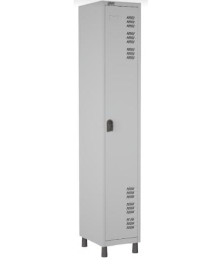 Roupeiro de aço para Vestiário 1 porta Inteiriço W3 Cinza