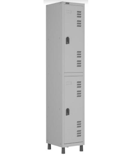Roupeiro de aço para Vestiário 2 portas W3 Cinza