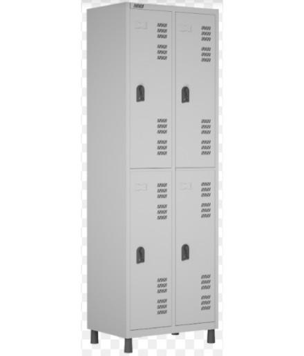Roupeiro de aço para Vestiário 4 portas grandes W3 Cinza