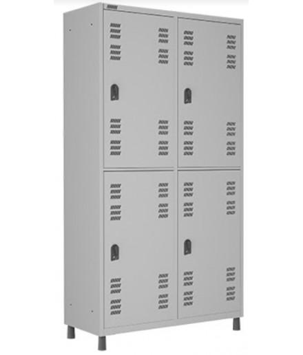 Roupeiro Locker de Aço 4 Portas Insalubre W3 Normas NR18 e NR24