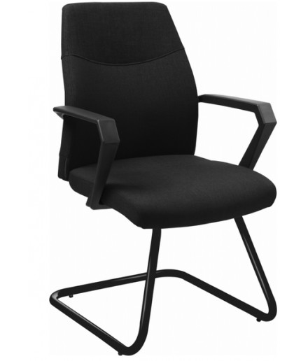 Cadeira para Escritório Fixa SKI Estofada Tecido poliéster Preta BLM 1500 F