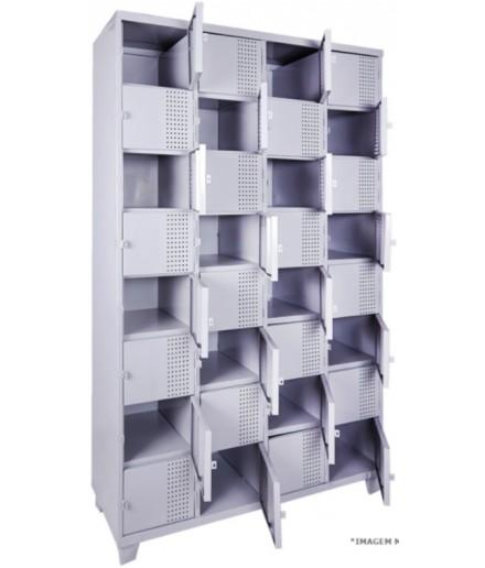 Roupeiro de Aço com 32 Portas para Vestiário Fechadura Chapa 26