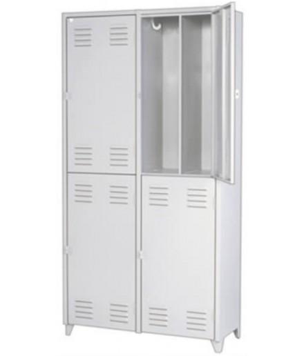 Comprar em Goiânia - GO Roupeiro de Aço Insalubre 4 Portas Divisão Vertical Pitão Chapa 24