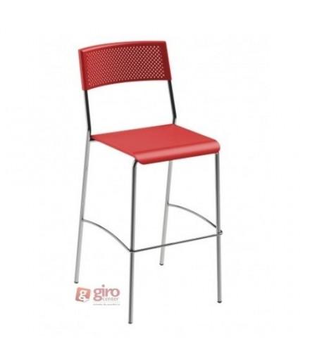 Banqueta Easy Vermelha - Girocenter Móveis